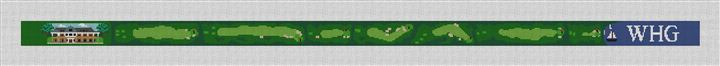 Woods Hole Golf Course Needlepoint Belt Canvas