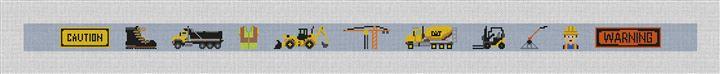 Work Zone Needlepoint Belt Canvas