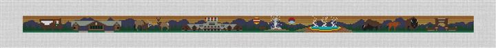 Yellowstone National Park Needlepoint Belt Canvas