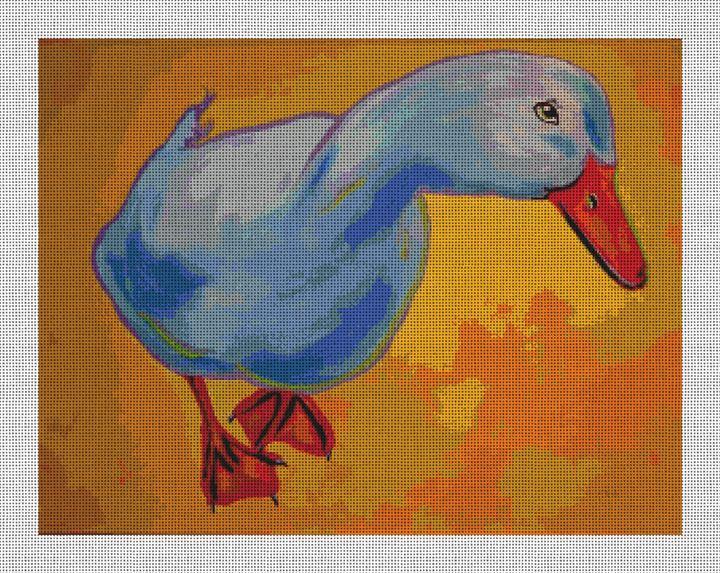 Zelda the Duck Needlepoint Canvas