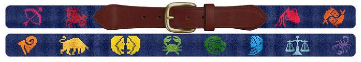 Zodiac Needlepoint Belt