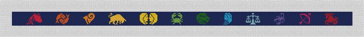 Zodiac Needlepoint Belt Canvas