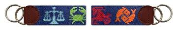 Zodiac Needlepoint Key Fob