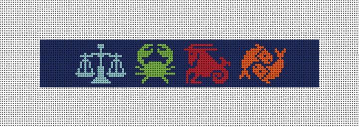 Zodiac Needlepoint Key Fob Canvas